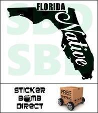 Florida Native Decal Flo Grown style Sticker Laptop Car Vinyl Flogrown Love FL