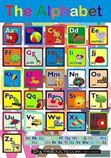 ABC Apprentissage Aide A4 A3 Maxi Tailles éducatif pour enfants Alphabet Affiche