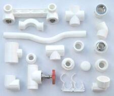 PP-R Rohr 20 mm Verbinder Winkel Kniestück Muffe T-Stück Fitting Fittings PPR