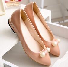 Ballerine mocassini scarpe donna  rosa perle  simil pelle comode 9292