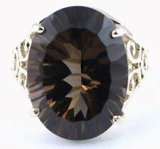 Smoky Quartz, 925 Sterling Silver Ladies Ring, SR049-Handmade
