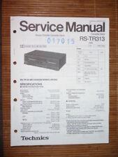 Service Manual for Technics RS-TR313 Tape Deck,ORIGINAL