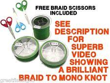 Braid Line Braided Fishing Line 330yd bulk spool Plus Free Braid Scissors