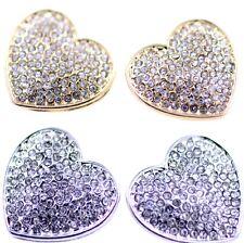 Pendientes encantadores del corazón con el cristal o la perla, opciones