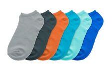 Set di 6 calzini colorati blu grigio arancio verde chiaro 2 misure disponibili