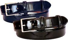 Cintura in vera pelle Verniciata - altezza 3,5 cm