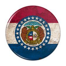 Rustic Missouri State Flag Distressed USA Pinback Button Pin Badge