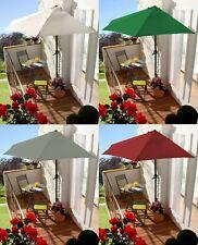 Wand-Sonnenschirm Sonnenschutz Terrassenschirm Balkonschirm Halbrund