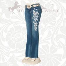 Montana West Trinity Ranch Boot Cut Jeans Cross Rhinestones JN-TR012 NWT