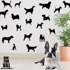 Dog Decals Vinyl Wall Stickers 38 Silhouettes KidsTeen Bedroom Decor Vet Kennel