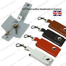 100% Strong Fait à la main Clés Support D'étui UK Cuir Porte-clefs W/Déclencheur