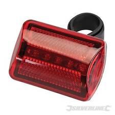Lampadina torcia da bicicletta a 5 LED rossa e chiara Silverline