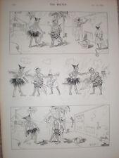 Rene Bull repellar dibujos animados de impresión de 1894