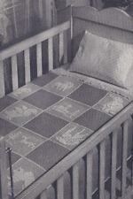 Vintage Crochet PATTERN Baby Filet Animals Motif Block