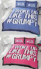 I woke up Like This #Grumpy Duvet Set Pink or Blue