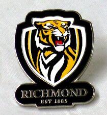 33689 RICHMOND TIGERS AFL TEAM LOGO MASCOT LAPEL TIE HAT PIN