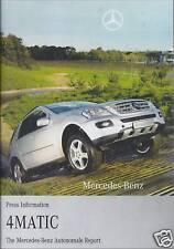 MERCEDES-BENZ 4MATIC - PRESS INFO (CD-ROM & SPEC BOOK)