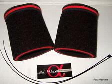 AIR FILTER SOCKS PAIR DCOE/DHLA CARB/CARBURETTOR AIRHORNS/RAMPIPES ALPHA