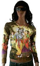 Krishna & Radha hindú deity amor Love Bhakti t-shirt L