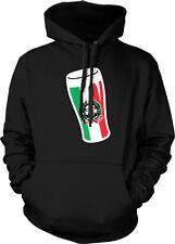 Italy Flag Repubblica Italiana Emblem Beer Glass Pride Hoodie Pullover