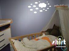 WT 516 -  Wolken Wolke für  Kinderzimmer Schlafzimmer Wandtattoo Aufkleber