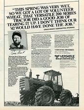 1985 Versatile 276 Farm Tractor Print Ad