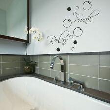 Bath Quote Wall Sticker / Decal Art Transfer / Graphic Stencil / Home Decors x95