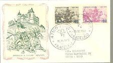 ITALIA BUSTA 1970 FDC FILAGRANO GOLD DIJON  GARIBALDI A  DIGIONE ANNULLO ARRIVO