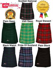 Men's Scottish Kilt 6 Yard 13OZ Kilts Casual Top Quality Highland Skirt 32 To 44