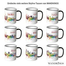 "WANDKINGS Tasse ""Skyline"" verschiedene Städte im Aquarell-Look Berlin Köln uvm"