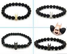 Handgefertigtes Batman Armband Onyx Perlen Hematite Held Comic The Dark Night