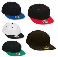 Men Women Snap Back Cap Plain Baseball caps Adjustable Strap LA Snapback Hats UK