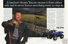 1996 Polaris 425 Magnum Quad ATV Four Wheeler 2 Page Print Ad