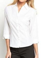 New Plain White Cotton Mix Shirt SIZES 20 + 22