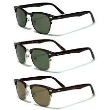 Small Retro Rewind Clubmaster Glasses Men's Vintage 80s Sunglasses Black Brown