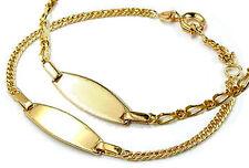 GOLD DOUBLE *** Schildarmband 13-15 cm Identitätsarmband ID-Armband vergoldet