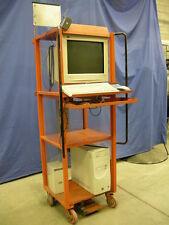 ROLLING WAREHOUSE COMPUTER WORK CART - MACHINE SHOP INDUSTRIAL TOOL BODY GARAGE
