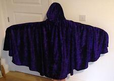 Fatto a mano Adulto Bambino Medievale Mantello Con Cappuccio Mantello Costume velluto schiacciato, NUOVO