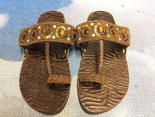 Pliner Jrs By Donald J Pliner Brown Leather Toe Ring Sandal Size 37 /US Womens 7