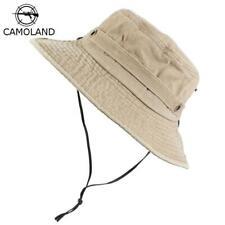 Men's Cap Spring Summer 100% Cotton Bucket Hats Western 2019 New Style Wind Rope