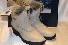NEW! NIB! PAJAR Beige Nylon Faux Fur NADIA Low Waterproof Snow Boots Sz 8 9 $175