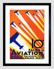 CULTURAL AIRSHOW AVIATION PARIS FRANCE VINTAGE ADVERT FRAMED PRINT B12X814