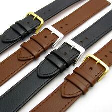 Comfortable Flexible Extra Long Leather Watch Strap Buffalo grain 16mm - 22mm