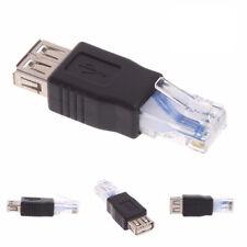 1/3/5pcs USB Tipo A Hembra A RJ45 Macho Router Enchufe Adaptador De Ethernet
