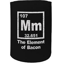 Stubby Holder - Mm Element Of Bacon - Funny Novelty Birthday Gift Joke Beer Can