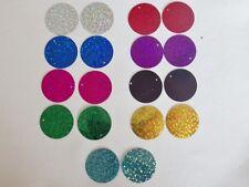 25g x 30mm Flat HOLOGRAM Disc Sequins: 9 Colours (approx. 110 pcs per 25g pack)