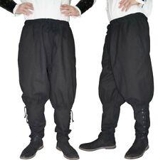Mittelalter Hose mit Taschen und Schnürung Wikinger Kelte schwarz G. M L XL