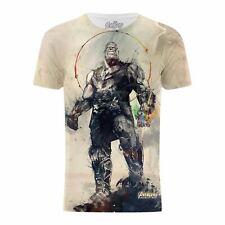 Avengers Infinity Krieg Thanos Battle Stance WHITE Herren T-Shirt