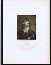 Major General John Lambert (1619-1684) -1812 Mezzotint Engraving