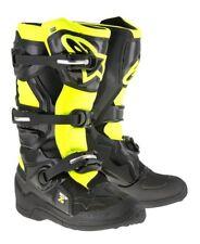 Alpinestars Tech 7s Juventud Motocross Bota Negro Amarillo Flo MX Niños Todas Las Tallas